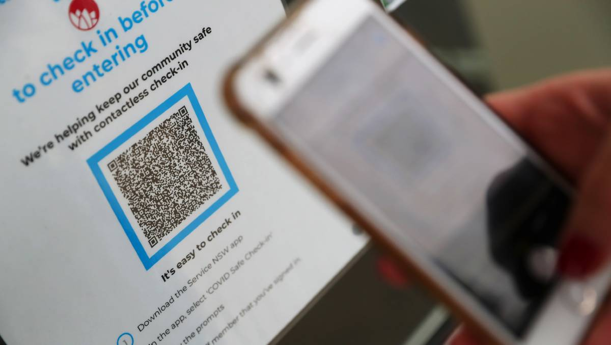 NEW RULES: The NSW government says the use of its own QR codes makes the job of contact tracers easier. Picture: Emma Hillier