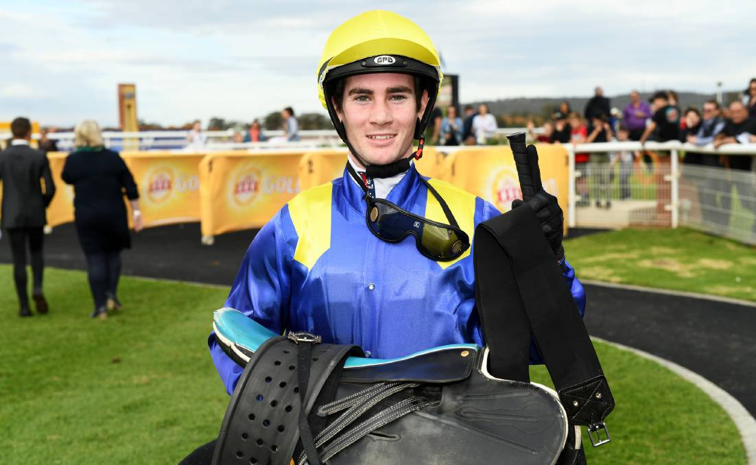 IN FORM: Jerilderie apprentice Tyler Schiller is ready for the step up after out-riding his country allowance at Canberra on Friday.
