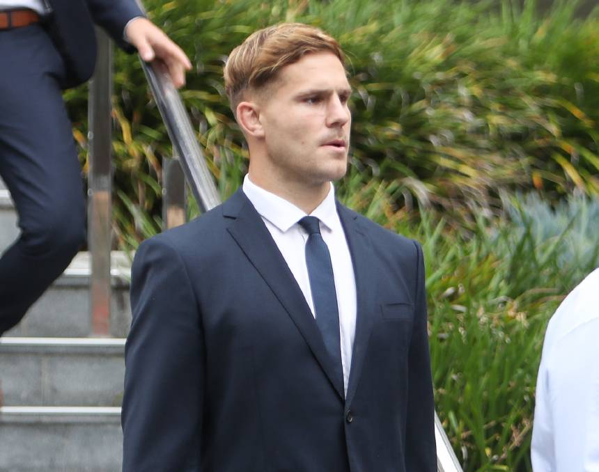 Jack de Belin during his fourth week at Wollongong courthouse for his sexual assault trial. Picture: Adam McLean