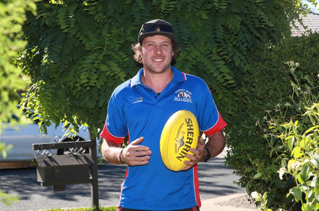 BACK AT THE BULLDOGS: Tyler Cunningham is back at his junior club Turvey Park after five seasons with Farrer League club Marrar. Picture: Les Smith