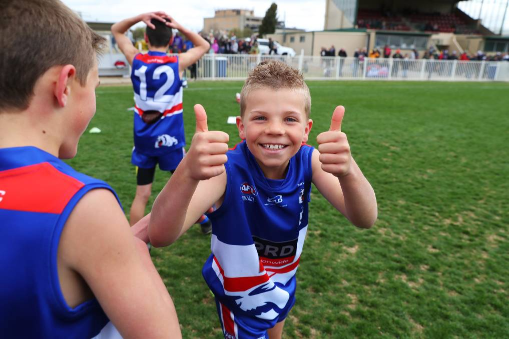 THUMBS UP: Turvey Park's Jack Rodham is full of smiles after last year's junior grand finals at Robertson Oval. Picture: Emma Hillier