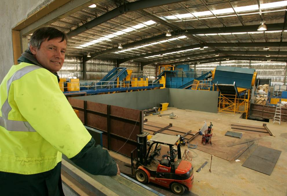 WASTE WORRIES: Geoff Pym, Gregadoo Waste Facility manager, oversees operations at Kurrajong Waste Recyclers.