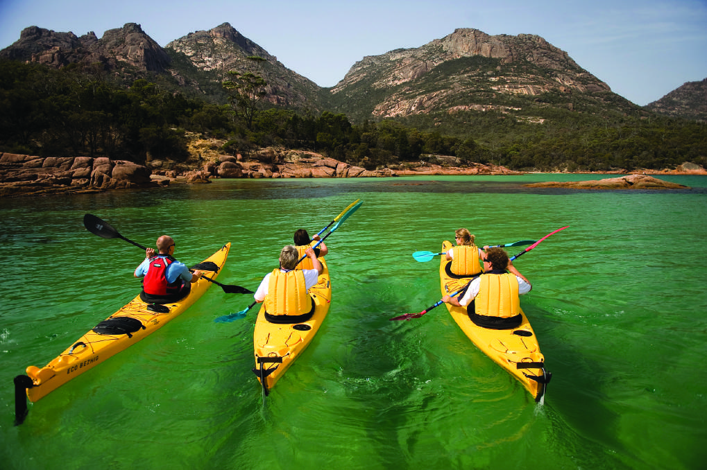 Kayak the Freycinet Peninsula. Picture: World Expeditions