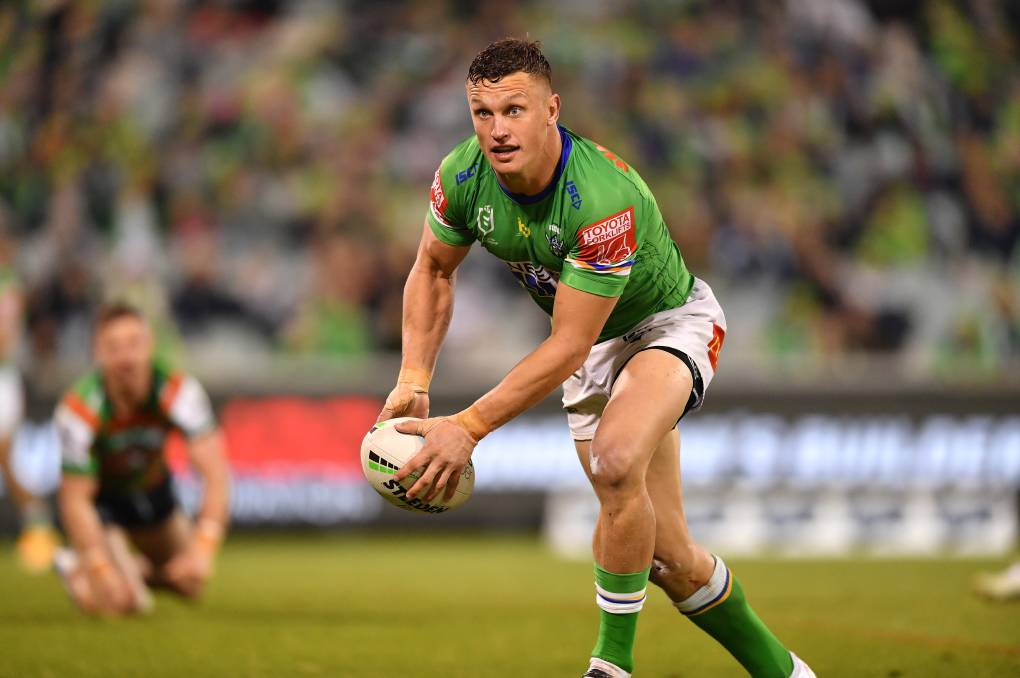COUNTRY KID: Canberra Raiders five-eighth Jack Wighton is hoping to put on a show in front of a sell out crowd at Equex Centre on Saturday. Picture: NRL Imagery/Robb Cox