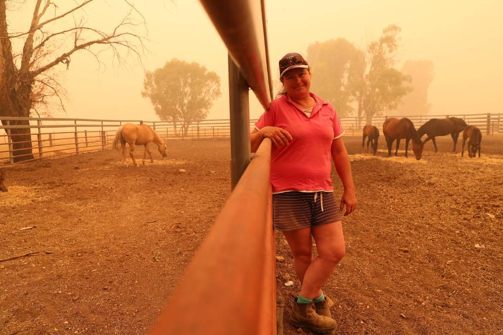 SAFE PLACE: Katie Henderson at Borambola in southern NSW was just one of the women who helped out during the bushfires in 2019/2020.