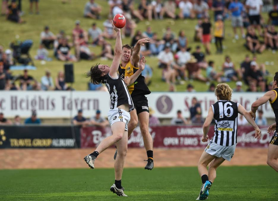 KEY ROLE: Brady Morton has had three years playing for Albury Tigers since leaving Wagga after the 2016 premiership success. Picture: The Border Mail