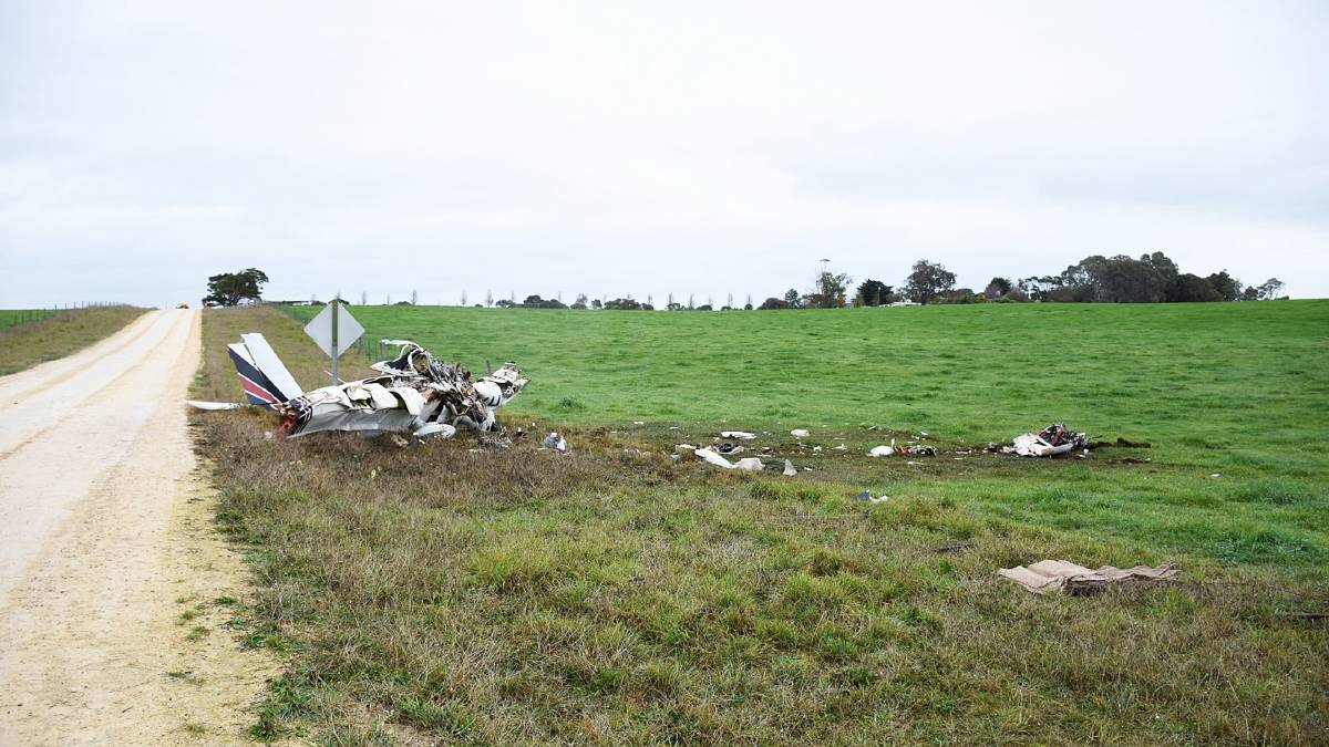 FATAL: The wreckage of an Angel Flight plane that crashed at Mount Gambier in 2017. Pictures: Supplied