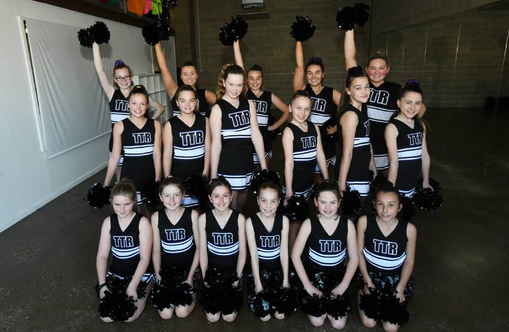 TEAM SPIRIT: These cheerleaders are ready to bring their routine to a NRL half-time show.