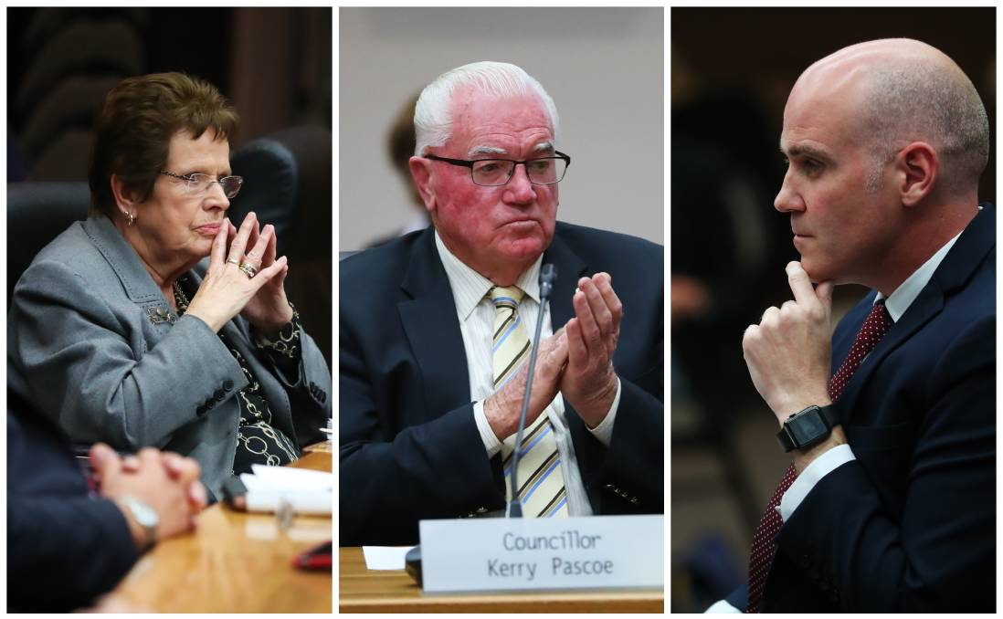 WALKOUT: Wagga councillors Yvonne Braid, Kerry Pascoe and Tim Koschel walked out of a confidential council meeting last month without explaining why to the public. Picture: Emma Hillier