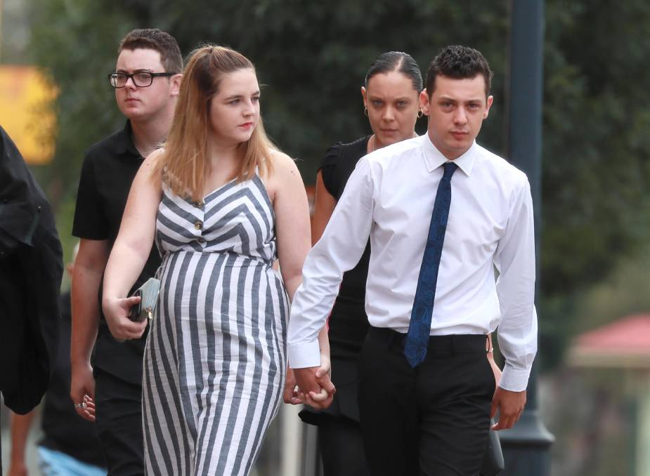 Joshua Aaron Byrne, 22, of Ashmont, outside the Wagga courthouse. Picture: Les Smith
