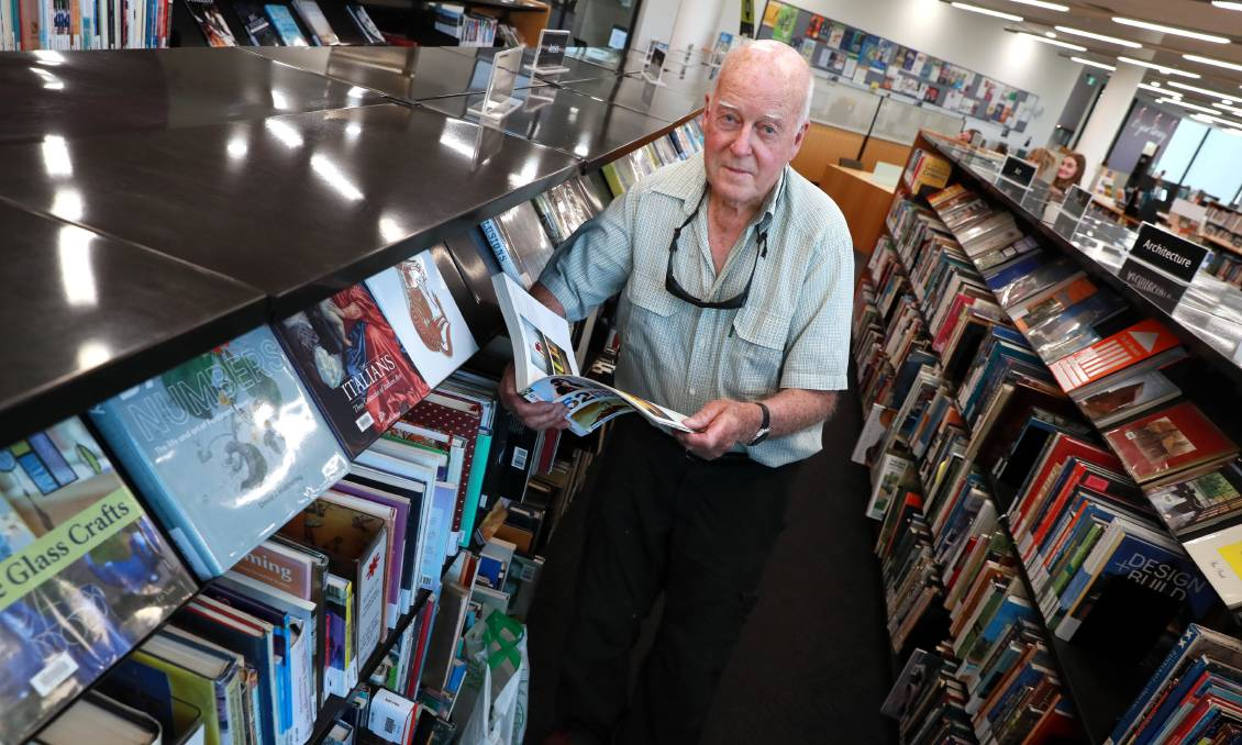 GREATER ACCESS: Regular Wagga library user George Last says the proposal to abolish overdue fines will lead to more community members accessing the services offered. Picture: Les Smith