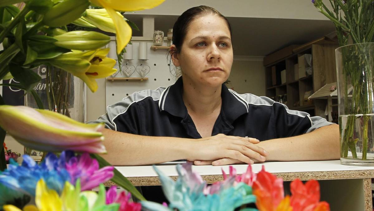 DISAPPOINTED: Champs Florist owner Melissa Cummins claims a rival company has set up a misleading and deceptive domain name. Picture: Les Smith.