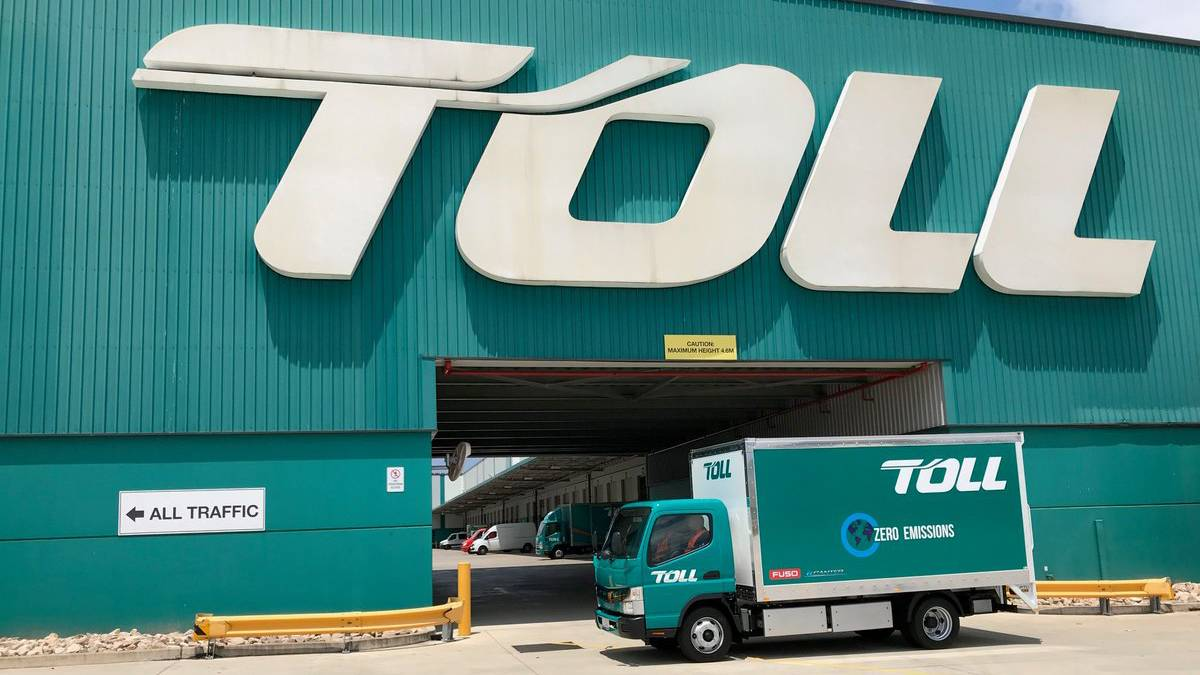 Freight company Toll Group has had numerous systems affected by a 'ransomware' cyber attack. Picture: Toll Group