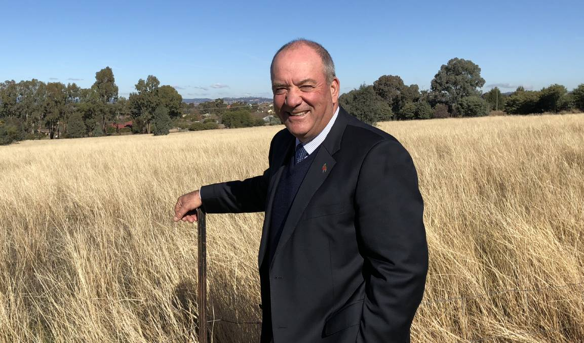 Then-Wagga MP Daryl Maguire, pictured at Estella in 2018. Mr Maguire told ICAC he 'accidentally' dropped a USB stick with his phone data at the farm gate, where it was run over and destroyed.
