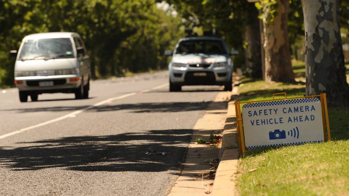 SNAPPED: A mobile speed camera warning sign in Wagga, which has been phased out by the NSW government, leading to a surge in fines across the city.