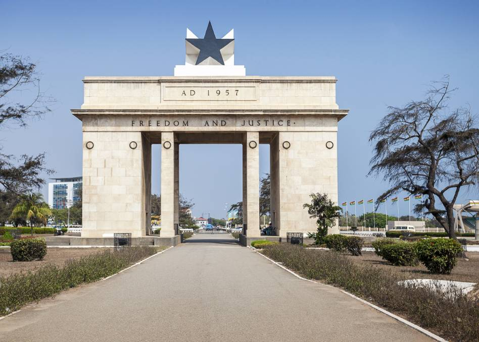 Independence Square in Accra, Ghana. It commemorates the independence of Ghana from the United Kingdom in 1957. Picture: Shutterstock.