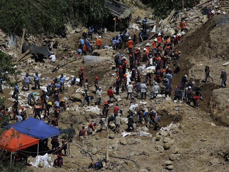 Philippines police say mining camp residents ignored warnings before a deadly landslide hit.