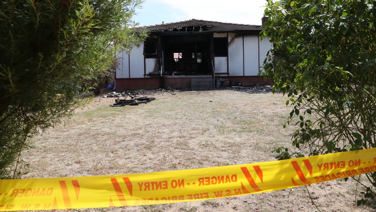 The Kooringal home was deliberately set on fire.