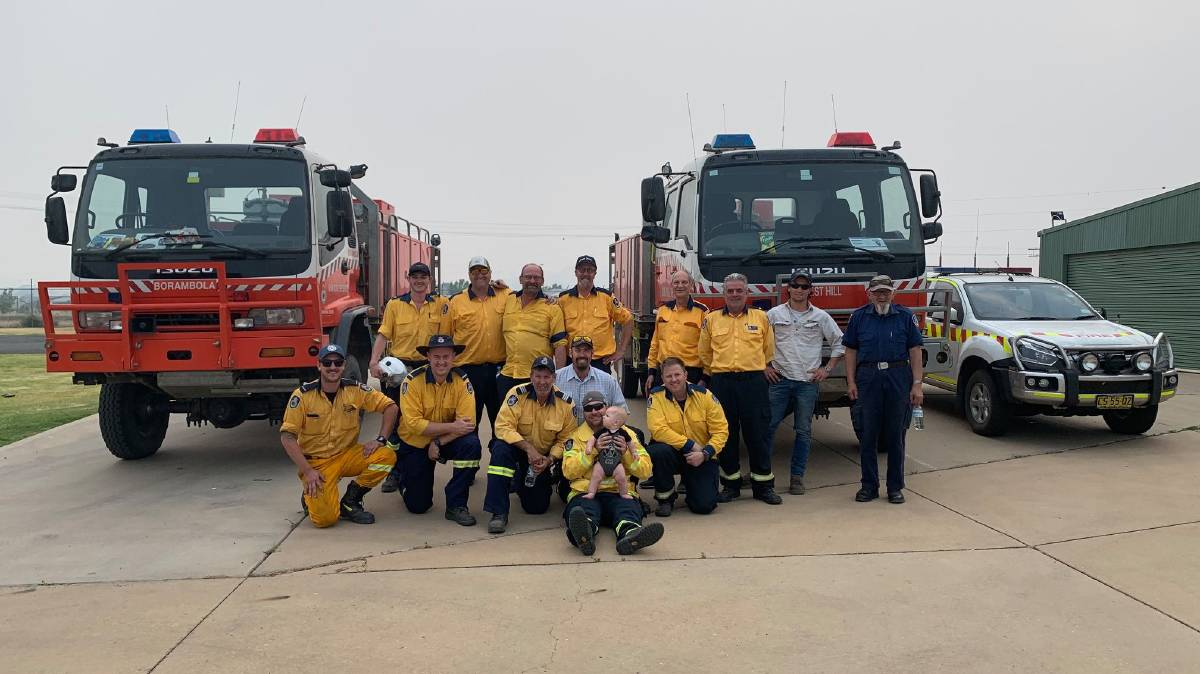 SEND-OFF: The Riverina South Strike Team gear up for their post to the Shoalhaven District during the Black Summer Bushfires. Picture: Bradley Stewart