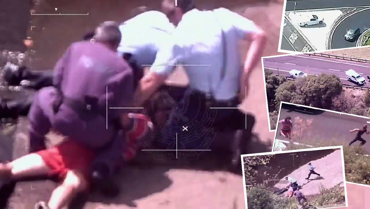 The cross-country pursuit that ended in a creek and 40 charges